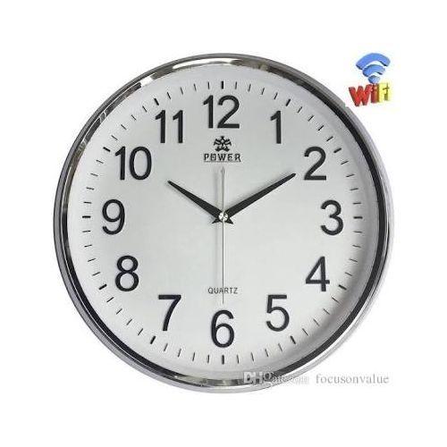 POWER Wall Clock Wireless Wifi Hidden Camera Full HD 1080P Round Clock