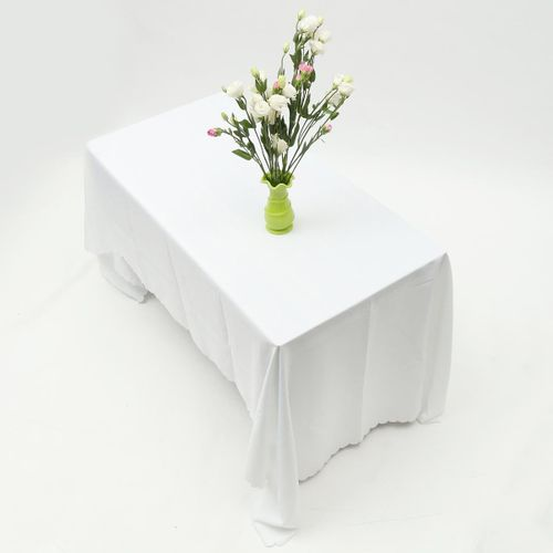 White Lace Tablecloth Polyester Table Cover Cloth Banquet Wedding Party Dining