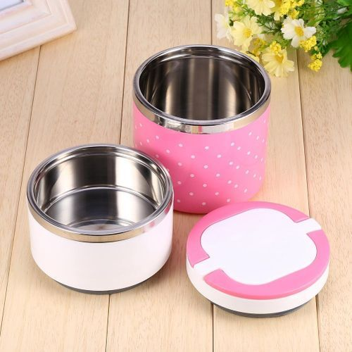 Double Layer Food Flask With Stainless Steel Inner
