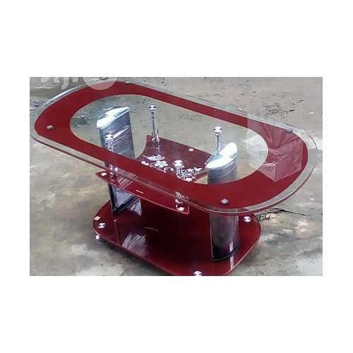 Elegant Glass Center Table - Brown(Prepaid Orders Only)