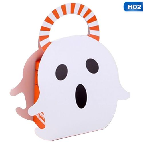 Halloween Decoration Pumpkin Gift Box Candy Gift Bag Ghost Cookie Gift Box Container For Children Kids Halloween Box Supplies