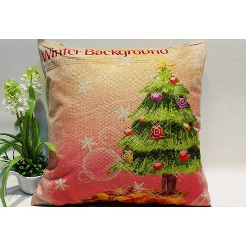 Houseworkhu Christmas Sofa Bed Home Decoration Festival Pillow Case Cushion Cover -Multicolor