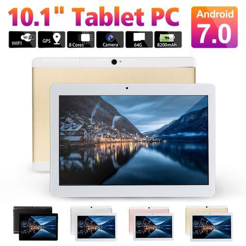 Tablet PC 10.1'' 4GB RAM+64GB ROM Android 7.0 Octa 8 Core HD WIFI Bluetooth 2 SIM 4G