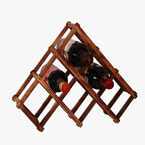 Wooden Red Wine Holder Rack 6 Bottle Wine Rack Mount Kitchen Glass Bottle Drinks Holder Storage Organizer Holders