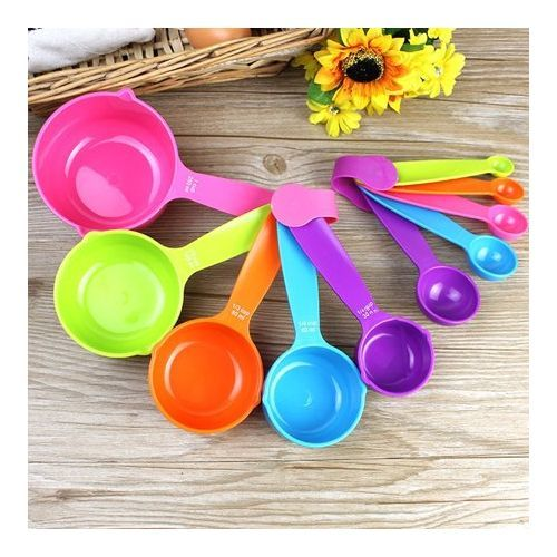 Measuring Spoons & Cup Set - 10 Pieces (Colour May Vary)