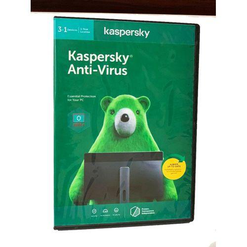 Kaspersky Anti-Virus 3+1 Devices - 1 Year License