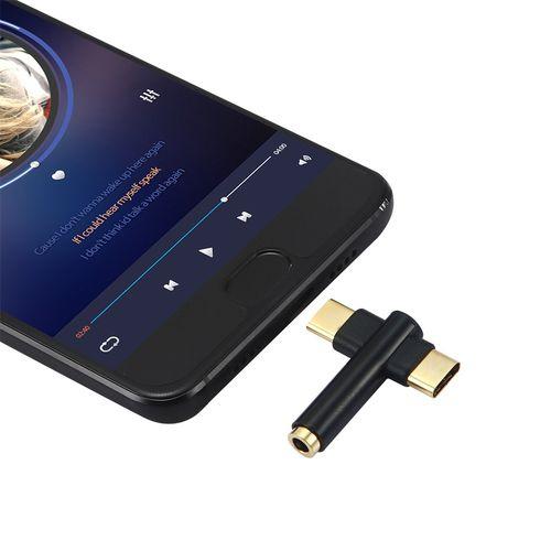 2 In 1 Adapter & Splitter USB C To 3.5mm Audio Headphone Type C Audio Splitter