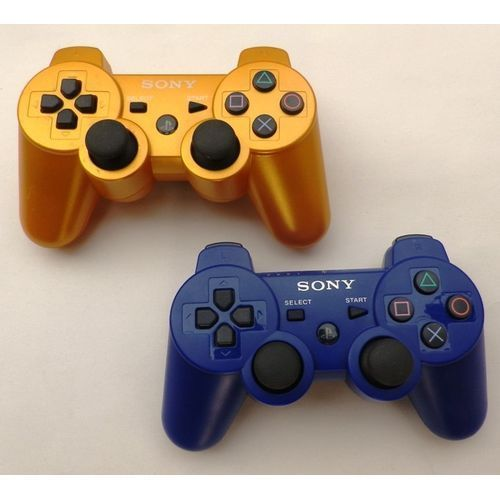 PS3 Wireless Pad - Gold And Blue