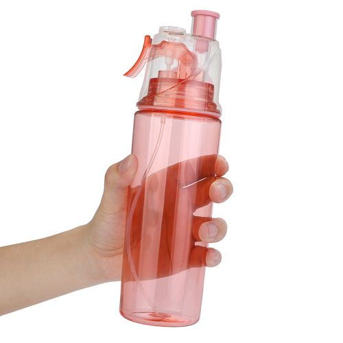Equivalentt 600ML Sport Cycling Mist Spray Water Gym Beach Bottle Leak-proof Drinking Cup