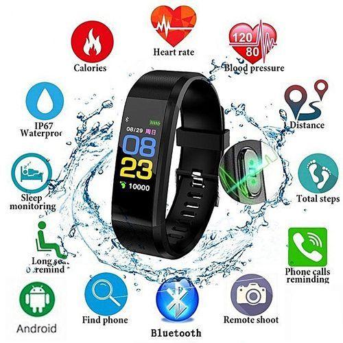 Fitness Tracker 0.96-Inch TFT Display Smartwatch