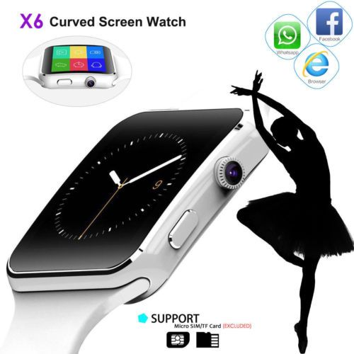 X6 Curved Screen Bluetooth Smart Watch Phone Mate