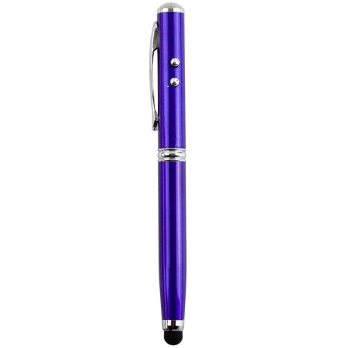 4 In 1 Laser Pointer LED Torch Touch Screen Stylus Ball Pen For IPhone Hot Selling Blue