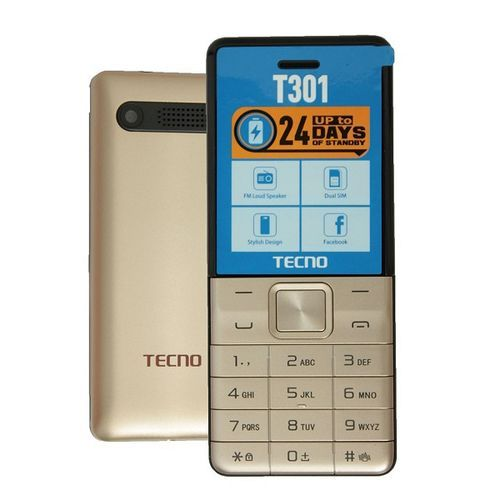 T301 Dual Sim With Camera & TorchLight Fm Loud Speaker - Champagne Gold