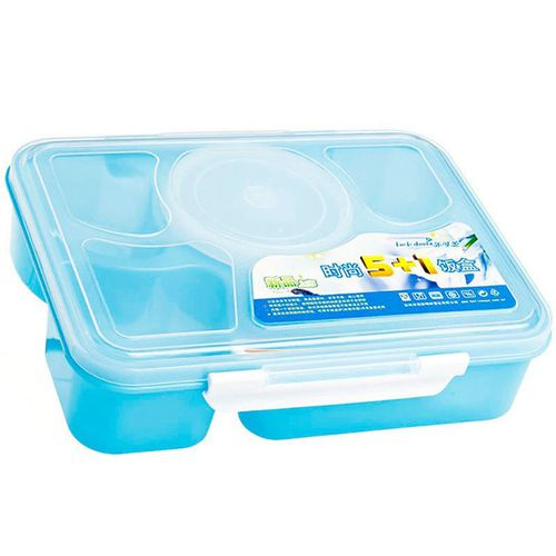 Portable 1000ml 5 Grids Lunch Box Plastic Student Kids Bento Box Insulation Meal Fruits Food Container Tableware Picnic Camping