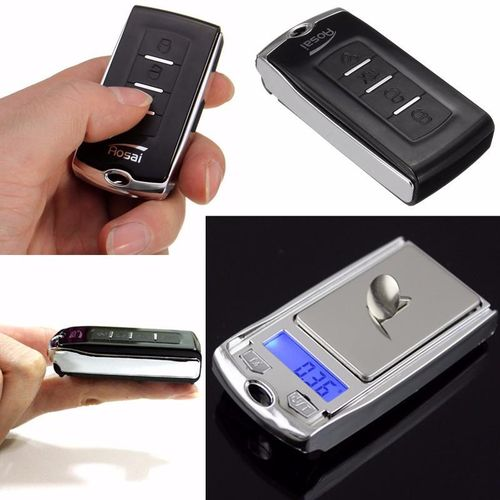 3PCS Mini Pocket Digital Car Key Style Scale Ultrathin 100g/0.01 Light Weight Black