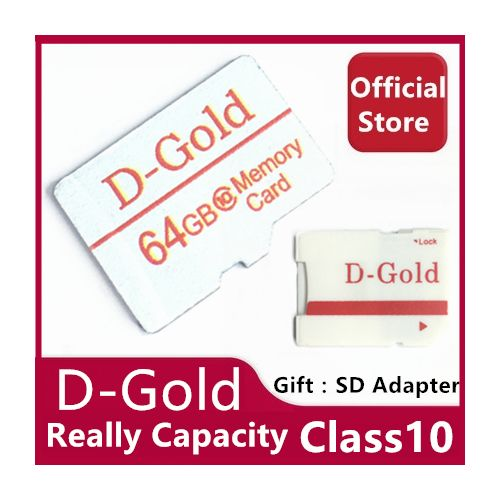 D-Gold 64GB Memory Card TF SD Card Class10 SDHC SDXC 100MB/S