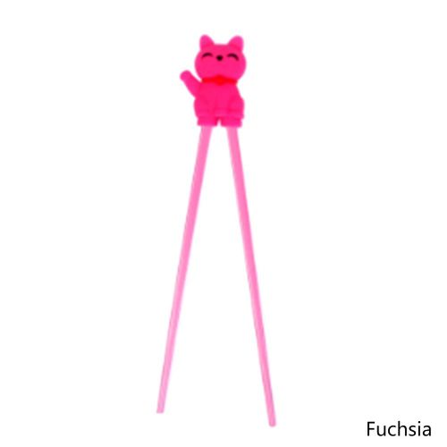 1 Pairs Lovey Kids Chopstick Training Helper Learning Fun Toy Lucky Cat