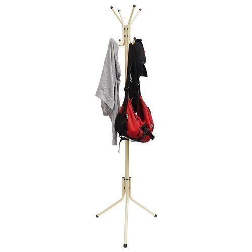 Coat Rack Stand Tree Clothes Holder Hat Hanger Hall Metal Hook Umbrella Storage White