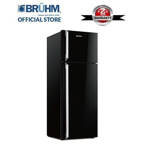 Bruhm 235 Liters Double Door Fridge With Glass Body