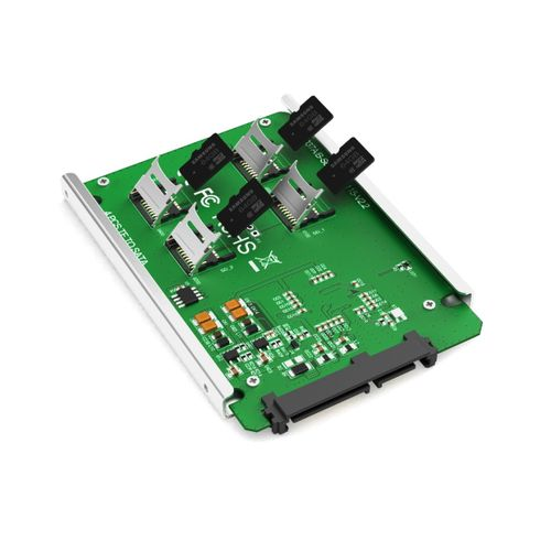 KT037 TF (Micro SD) Micro SD X 4 SATA-KT037B Interface - Green