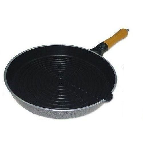 Non-stick Wooden Handle Grill Pan - 24cm