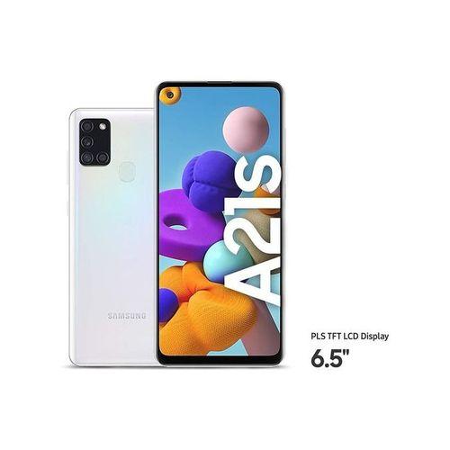 Galaxy A21s, 6.5-Inch (4GB RAM, 64GB ROM) Android 10, (48MP + 8MP + 2MP + 2MP) + 13MP Dual SIM - WHITE