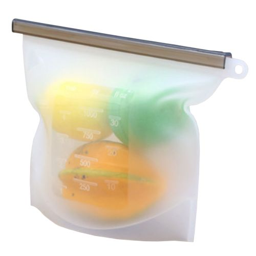 Sealed Food Packaging Vacuum Bag Useful 17.5*23CM Silicone Refrigerator Reusable Zipper Pouches Clear Household