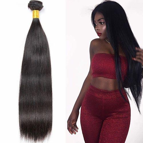 1 Bundle Straight Hair Extension Black Color