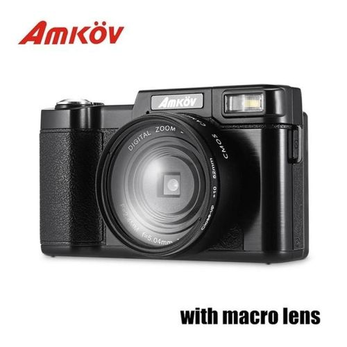 AMKOV CD - R2 CDR2 Digital Camera Video Camcorder With 3 Inch TFT Screen UV Filter 0.45X Super Wide Angle Lens Photo Cameras WWD