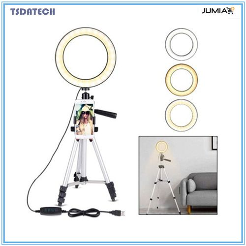 7.8''Ring Light With Tripod Stand For YouTube Video & Makeup