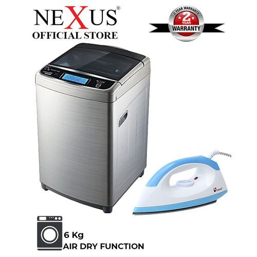8kg Automatic Top Load Washing Machine + Free Dry Iron