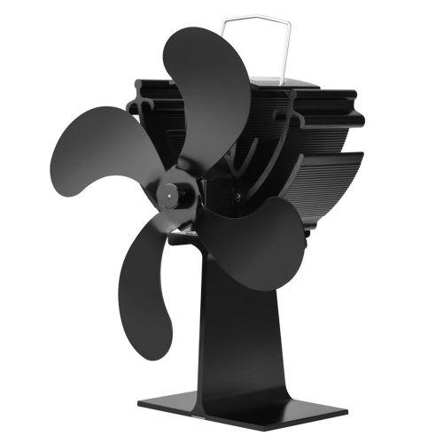 700E 4-tool Heat Powered Stove Fan Log Wood Burner Ecofan Quiet Home Black