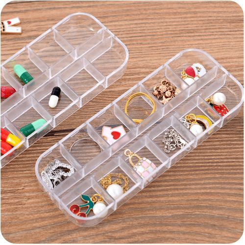 Multifunction Home Transparent Plastic Jewelry Box Mini Jewelry Small Box Duojia Earrings