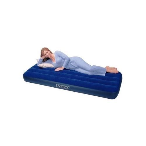 Inflatable Mattress Air Bed + Pump - SINGLE USER Blue