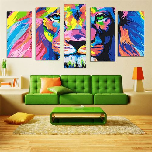 Modern HD Canvas Art Print Picture Abstract 5 Panel Home Office Decor