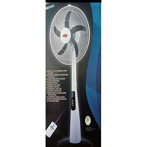 """18""""Rechargeable Standing Fan With Remote Control & USB Port"""