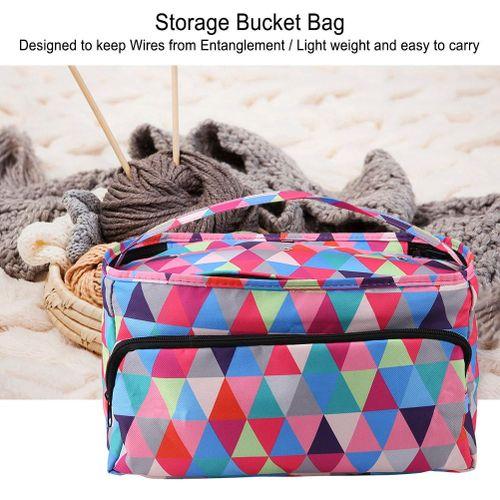 Crochet Thread Sewing Bag Lady's Storage Box Fashionable Color Knitting Bag Colorful Portable Storage Bag