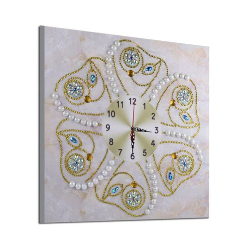 Clocks Painting Cross Stitch Decor Diamond Embroidery DZ074
