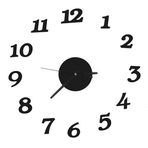 Large Wall Number Clock Modern Acrylic Sticker Quiet DIY Decoration