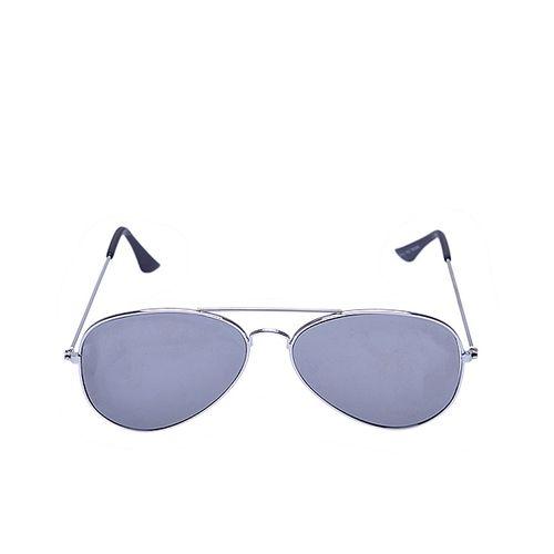 Aviator Sunglasses - Mirror Grey Lens