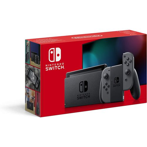 Nintendo Switch With Neon Blue And New Red Joycon (New Model)