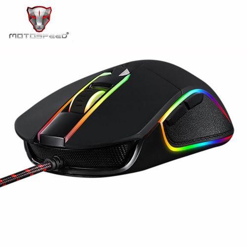 V30 RGB Wried Optical Mice Backlit Breathing LED For PC