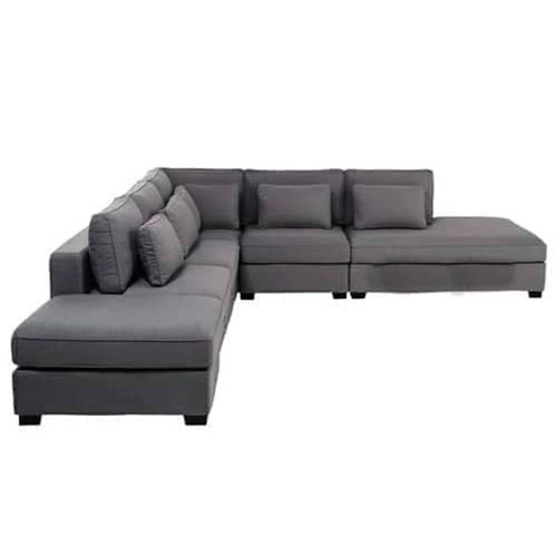 Extra Length L-shaped Sofa . Ash Colour.Order Now And Get OTTOMAN Free (DELIVERY ONLY IN LAGOS)