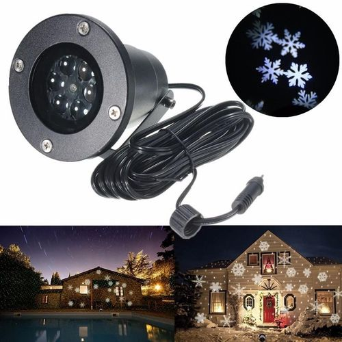 Snowflake LED Landscape Projector Light Outdoor Moving Garden Yard Holiday Xmas