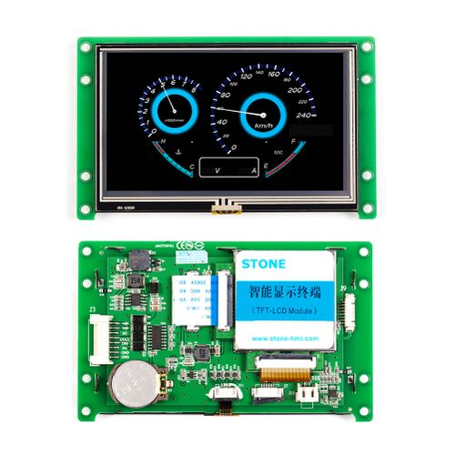 """4.3"""" Intelligent 480*272 LCD Module With RS232/RS485/TTL"""