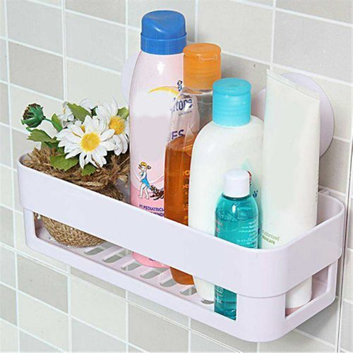 3 Sets Strong Suction Rectangle Rack Washroom