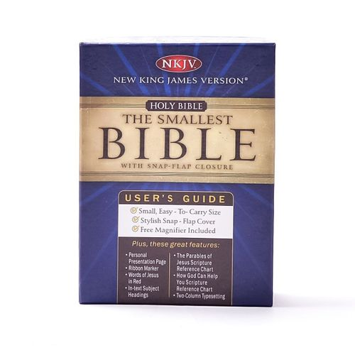 The Smallest Bible With Snap-flap Cover - New King James Version (burgundy Bonded Leather)
