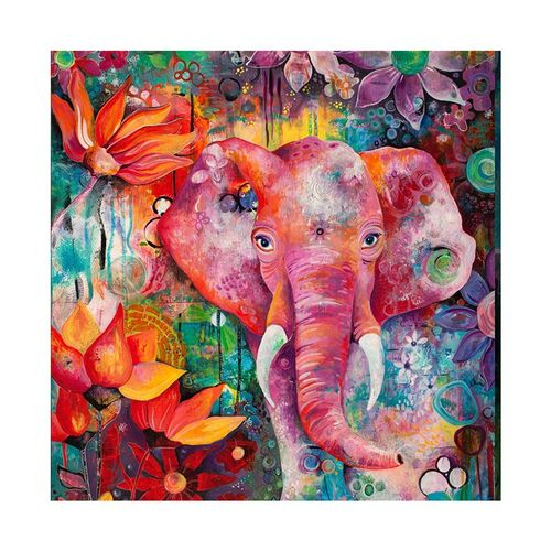 MT Elephant 5235 Square Art Painting DIY Handmade Diamond Painting Cross Stitch-colorful