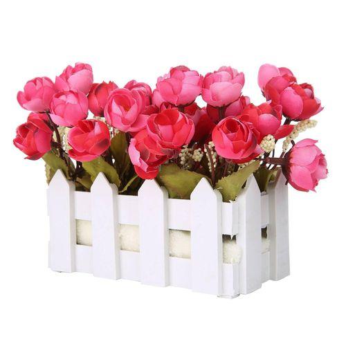 Artificial Flower Small Potted Plant False Camellia Sasanqua