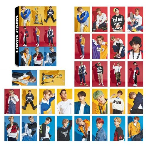 Benhongszy 30Pcs/Set NCT Photo Card Poster Lomo Cards Self Made Paper HD Photocard Fans Gift Collection